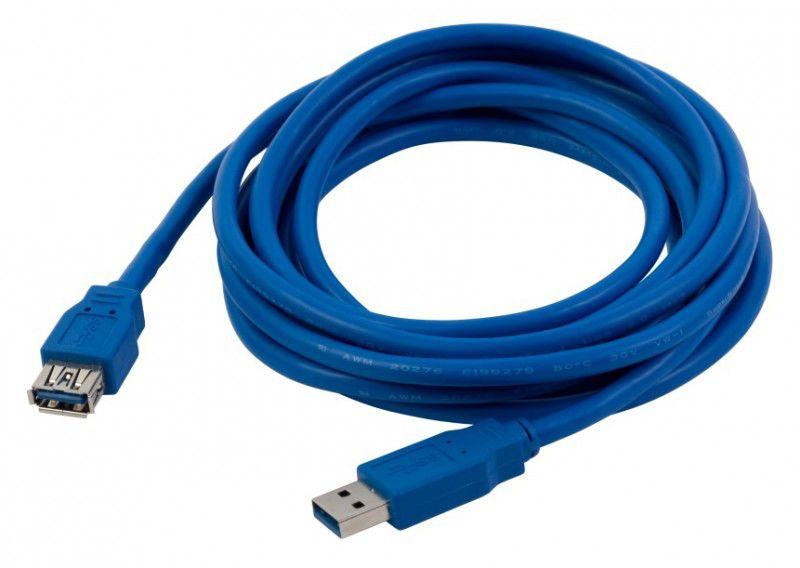 Кабель-удлинитель USB3.0 PC PET USB A (m) -  USB A (f),  3м,  блистер,  синий [usamaf30-30]