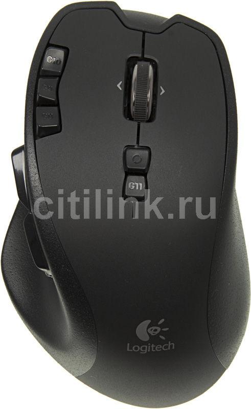 Мышь LOGITECH G700 лазерная беспроводная USB, черный [910-001761]