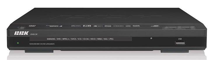 DVD-плеер BBK DV813Х,  черный,  диск 2000 песен