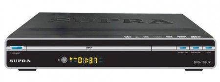 DVD-плеер SUPRA DVS-109UX,  серебристый