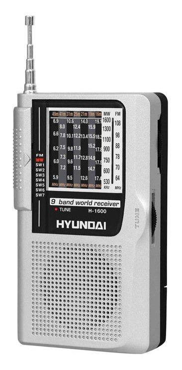 Радиоприемник HYUNDAI H-1600,  серебристый