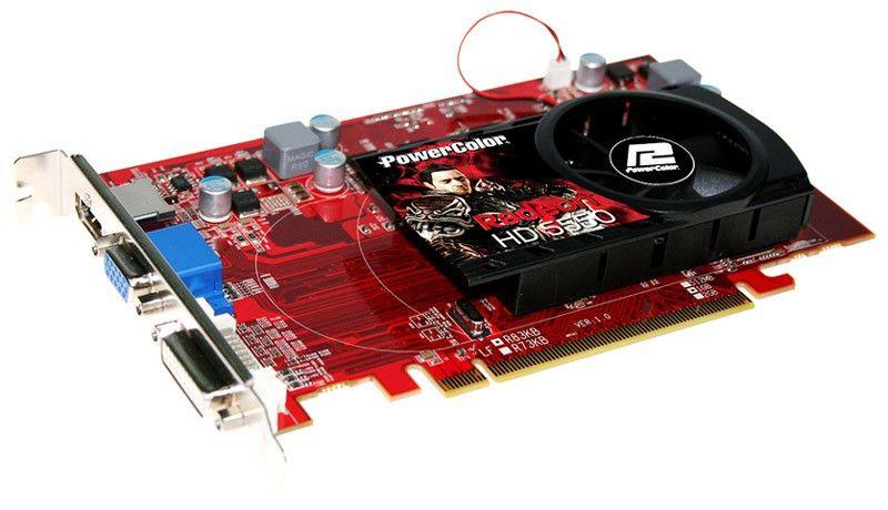 Видеокарта POWERCOLOR Radeon HD 5550,  1Гб, DDR3, Ret [ax5550 1gbk3-h]