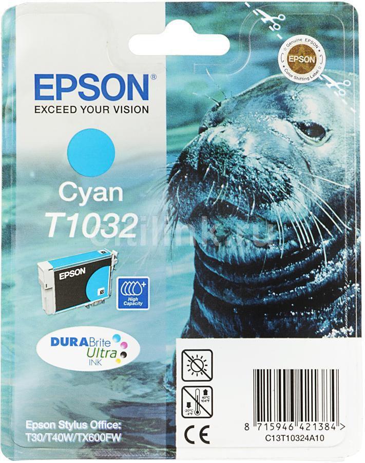 Картридж EPSON T1032 голубой [c13t10324a10]