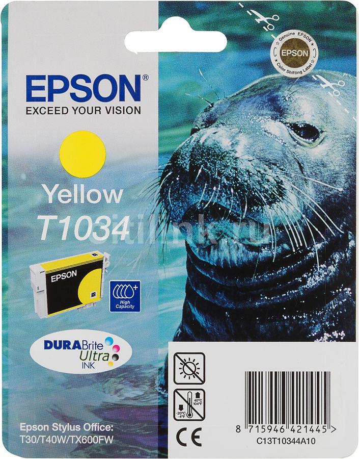Картридж EPSON T1034 желтый [c13t10344a10]