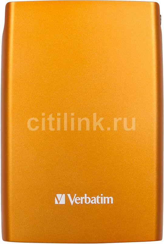 Внешний жесткий диск VERBATIM Store n Go 500Гб, оранжевый [53013]