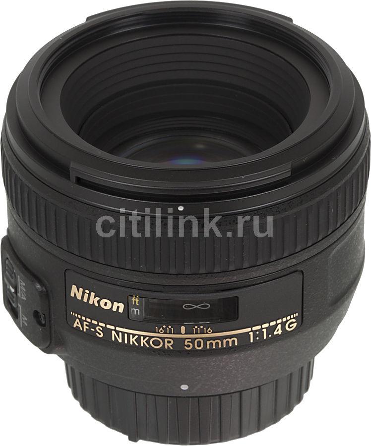 Объектив NIKON 50mm f/1.4 Nikkor AF-S, Nikon F [jaa014da]