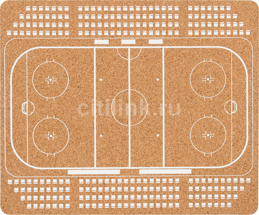 Коврик для мыши PC PET MP-CKH CorkArt (Hockey) коричневый [mp-ckh cork hockey]
