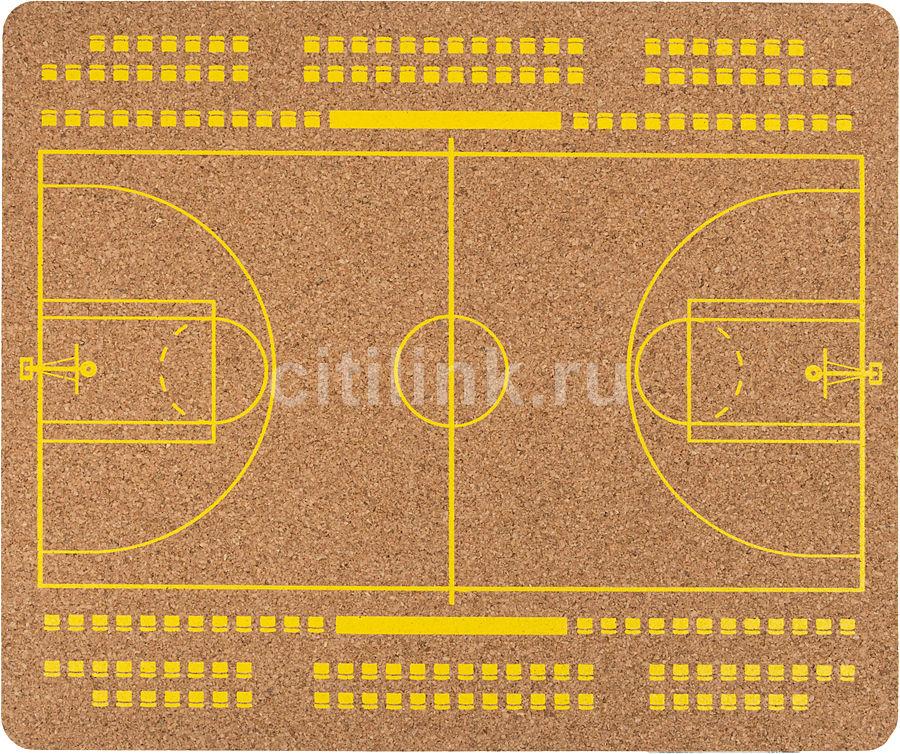 Коврик для мыши PC PET MP-CKB CorkArt (BasketBall) коричневый/рисунок [mp-ckb cork bskbl]