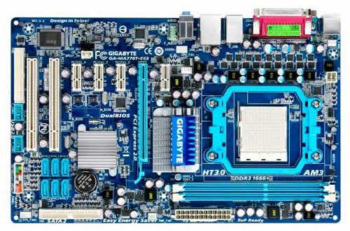 Материнская плата GIGABYTE GA-MA770T-ES3, SocketAM3, AMD 770, ATX, OEM