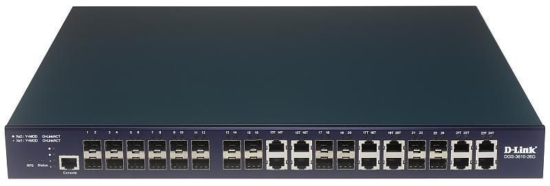 Коммутатор D-LINK DGS-3610-26G, DGS-3610-26G