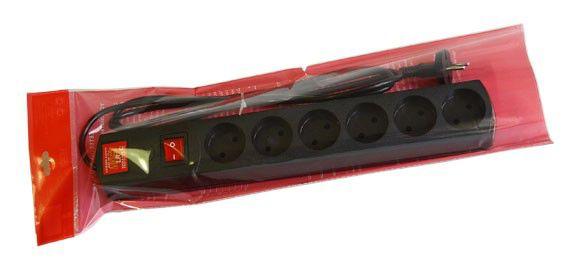Сетевой фильтр MOST LR, 1.7м, черный [lr 6-1.7-ч]