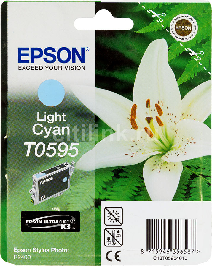 Картридж EPSON T0595 светло-голубой [c13t05954010]