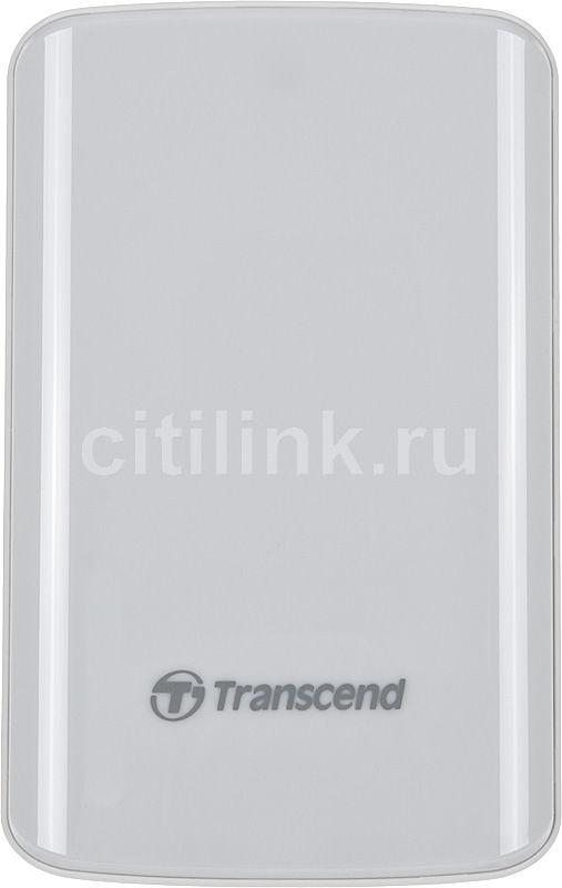 Внешний жесткий диск TRANSCEND StoreJet 25D2 TS500GSJ25D2-W, 500Гб, белый