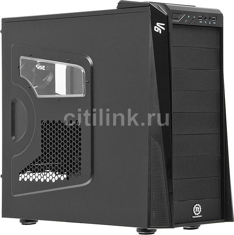 Корпус ATX THERMALTAKE V6 BlacX Edition VM100M1W2Z, Midi-Tower, без БП,  черный