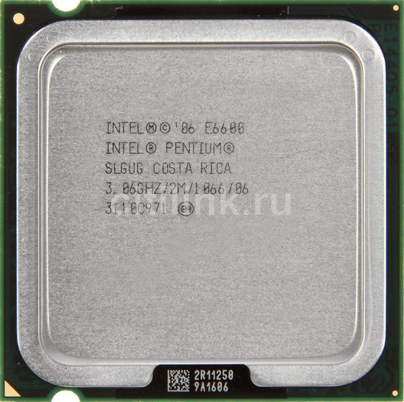 Процессор INTEL Pentium Dual-Core E6600, LGA 775 [cpu intel s775 e6600 oem]