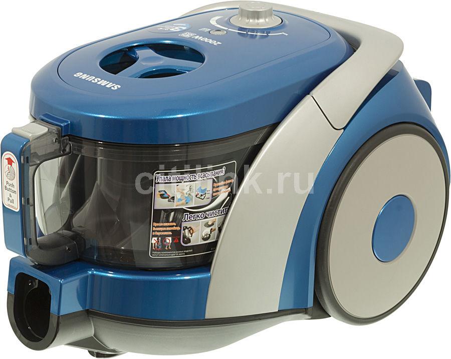Пылесос SAMSUNG SC6780, 2000Вт, голубой/серебристый