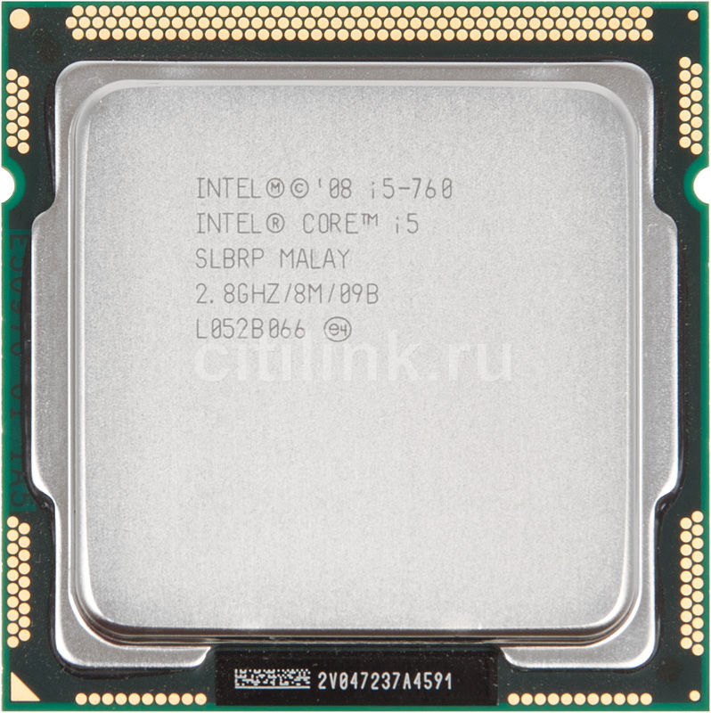 Процессор INTEL Core i5 760, LGA 1156 OEM [cpu intel s1156  i5-760 oem]