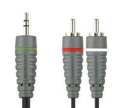 Кабель-переходник аудио BANDRIDGE BAL3401,  Jack 3.5 (m)  -  2хRCA (m) ,  1м