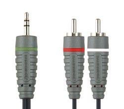 Кабель-переходник аудио BANDRIDGE BAL3405,  Jack 3.5 (m)  -  2хRCA (m) ,  5м
