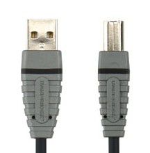 Кабель USB BANDRIDGE BCL412,  USB A (m) -  USB B (m),  2м [bcl4102]