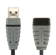 Кабель-удлинитель USB BANDRIDGE BCL4302,  USB A (m) -  USB A (f),  2м,  блистер