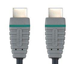Кабель видео BANDRIDGE BVL1001,  HDMI (m)  -  HDMI (m) ,  1м, GOLD черный
