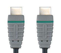Кабель аудио-видео BANDRIDGE BVL1002,  HDMI (m)  -  HDMI (m) ,  2м, GOLD черный