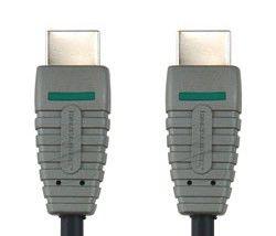 Кабель видео BANDRIDGE BVL1003,  HDMI (m)  -  HDMI (m) ,  3м, GOLD черный