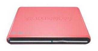 Оптический привод DVD-RW SAMSUNG SE-S084D/TSPS, внешний, USB, розовый,  Ret