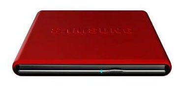 Оптический привод DVD-RW SAMSUNG SE-S084D/TSRS, внешний, USB, красный,  Ret