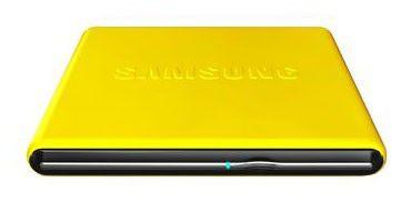 Оптический привод DVD-RW SAMSUNG SE-S084D/TSYS, внешний, USB, желтый,  Ret
