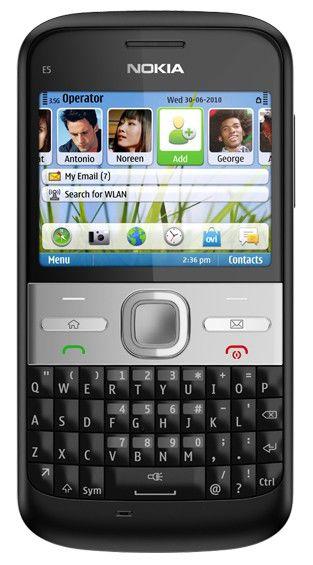Смартфон NOKIA E5  черный