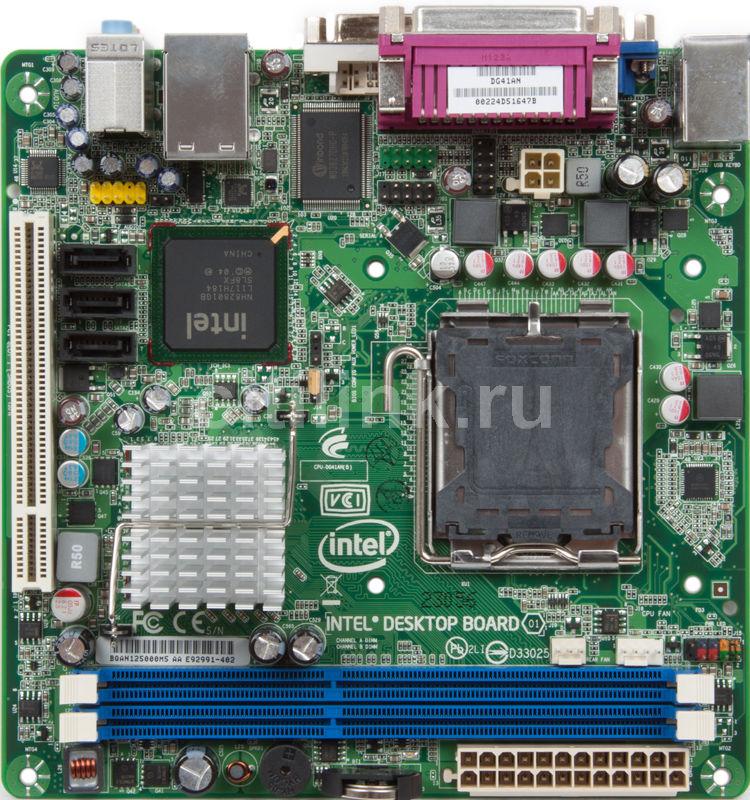 Материнская плата INTEL DG41AN LGA 775, mini-ITX, bulk