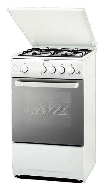 Газовая плита ZANUSSI ZCG 559GW,  газовая духовка,  белый [zcg559gw]