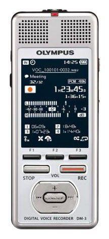 Диктофон OLYMPUS DM-3 4 Gb,  серебристый