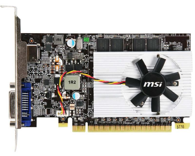 Видеокарта MSI GeForce 210,  512Мб, GDDR2, oem [n210-md512]