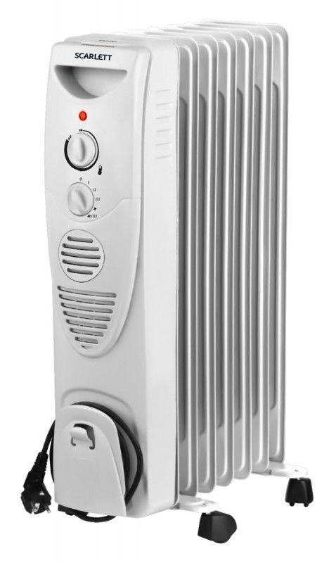 Масляный радиатор SCARLETT SC-1152, 1500Вт, белый