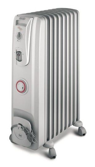 Масляный радиатор DELONGHI KR730715, 1500Вт, белый