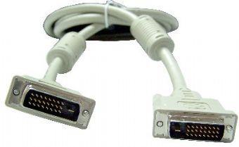 Кабель DVI  Gembird CC-DVI2-10M,  DVI-D(m) dual link -  DVI-D(m) dual link,  ферритовый фильтр ,  10м,  белый