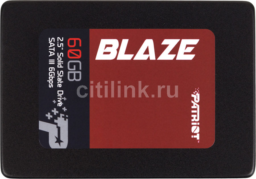 SSD накопитель PATRIOT Blaze PB60GS25SSDR 60Гб, 2.5