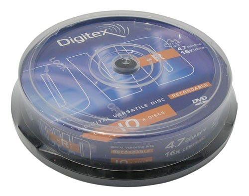 Оптический диск DVD-R DIGITEX 4.7Гб 16x, 10шт., cake box [dvd-r47b16-c10]