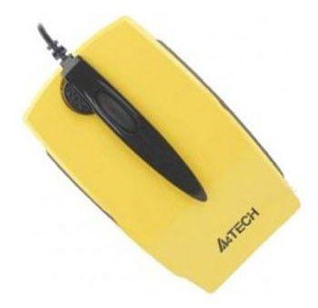 Мышь A4 K4-59MD-4 оптическая проводная USB, желтый