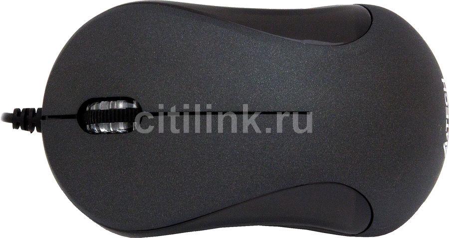 Мышь A4 Q3-320-1 оптическая проводная USB, черный