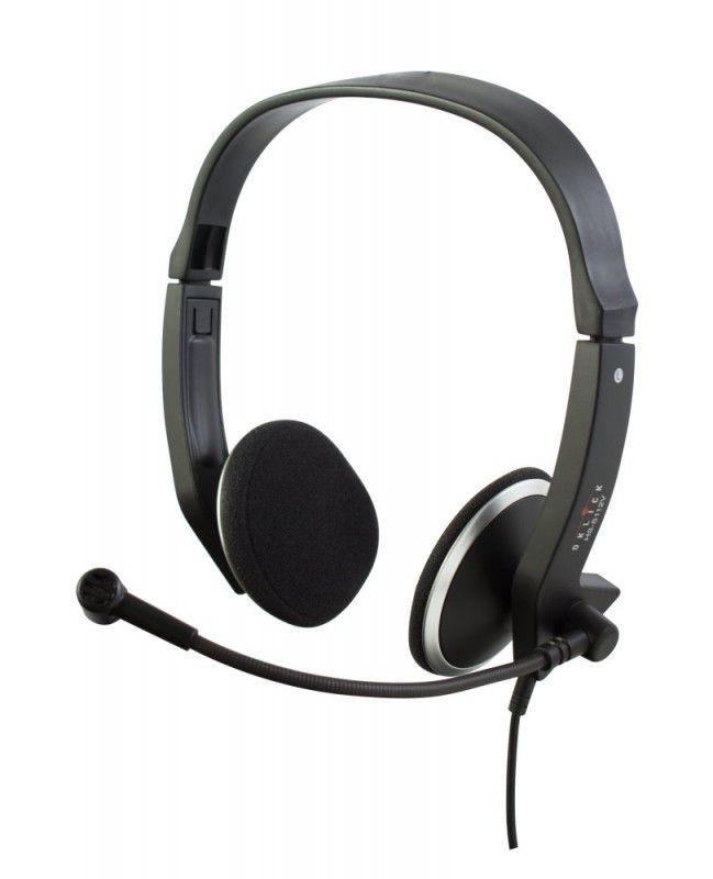 Наушники с микрофоном OKLICK HS-S112V,  накладные, черный