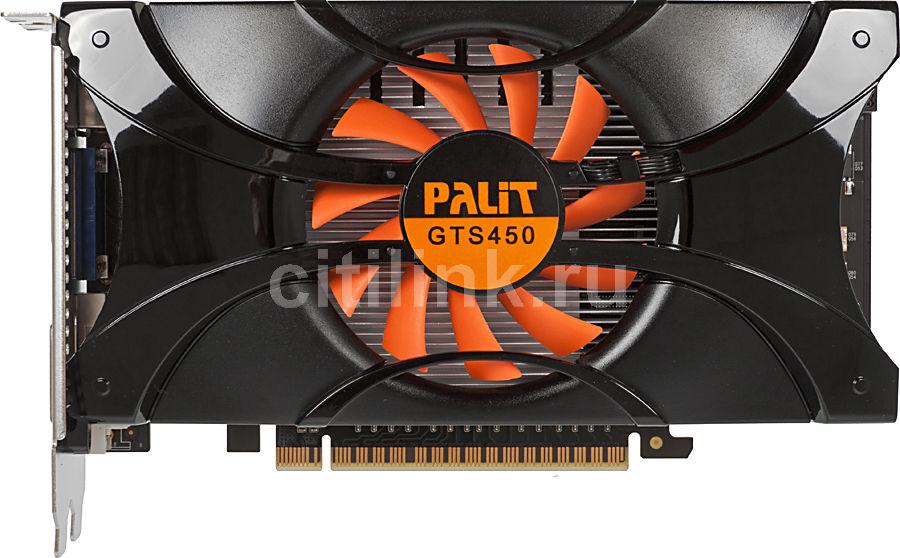 Видеокарта PALIT GeForce GTS 450,  1Гб, GDDR5, Ret [ne5s4500hd01-106xf]