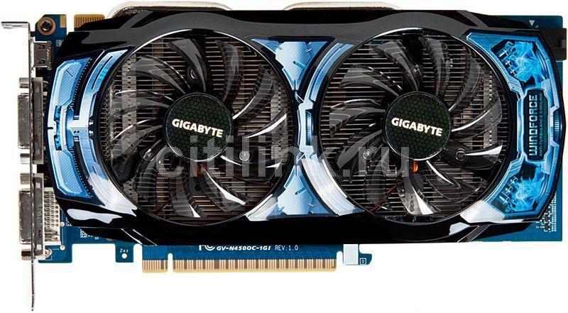 Видеокарта GIGABYTE GeForce GTS 450,  1Гб, GDDR5, OC,  Ret [gv-n450oc-1gi]