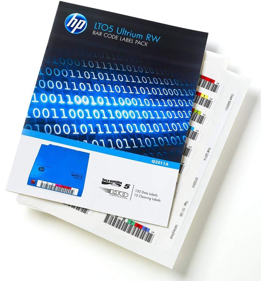 Наклейка HPE LTO5 Ultrium Read/Write Bar Code Pack (Q2011A)