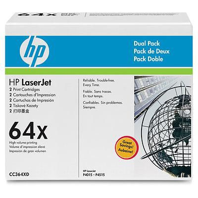 Двойная упаковка картриджей HP 64X черный [cc364xd]