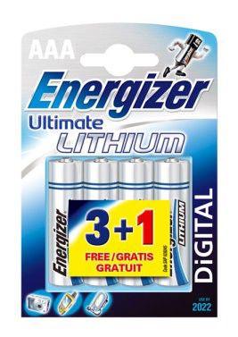 Батарея ENERGIZER Ultimate FR03 L92,  4 шт. AAA