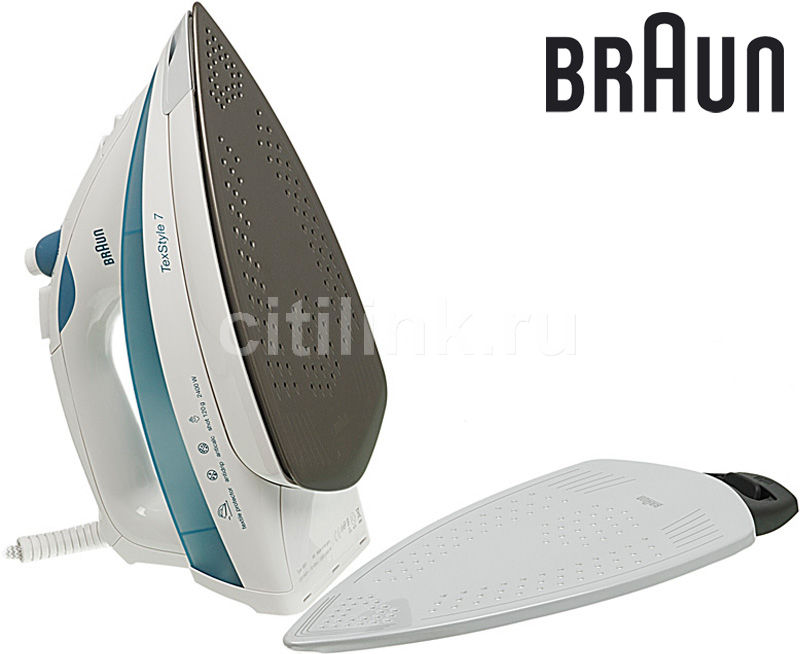 Утюг BRAUN SI730/SI17780,  2400Вт,  синий